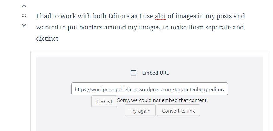 Links & Customising Link Text using the Gutenberg Editor